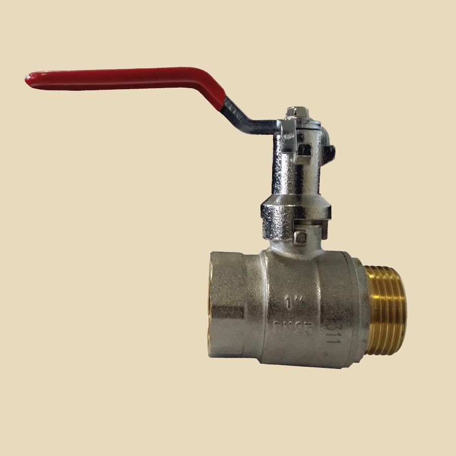 Vanne 2 voies laiton boisseau sphérique avec réhausse DN15 1/2