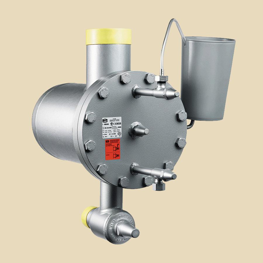 Flotteur de détente Haute Pression HS 31 L/N  entrée ASTM DN100 sortie avec vanne DN50 PN40 Certificat CE inclus