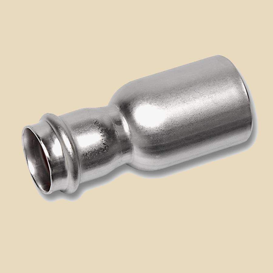 Manchon Réduit Galvanisé à Sertir 108mm Mâle x 88,9mm Femelle compatible avec profils SA ou M