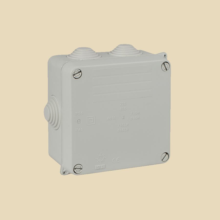 Boite de dérivation carrée à tétines IP55-65 - 100 x 100 x 55mm
