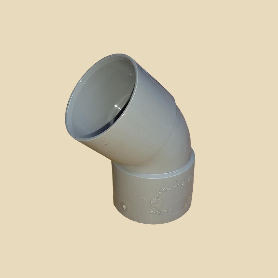 Coude 45° FF PVC gris Ø 32mm Prix/Pièce