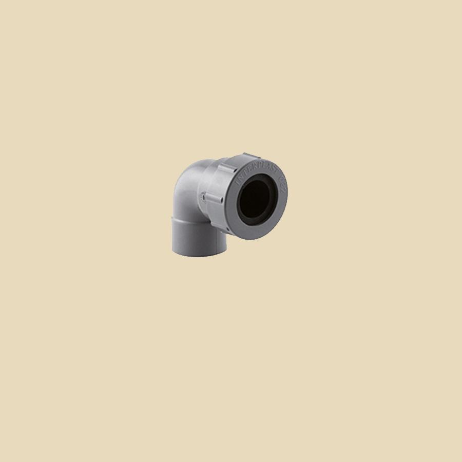 Coude 87° F32 à coller x 32 à joint PVC Gris