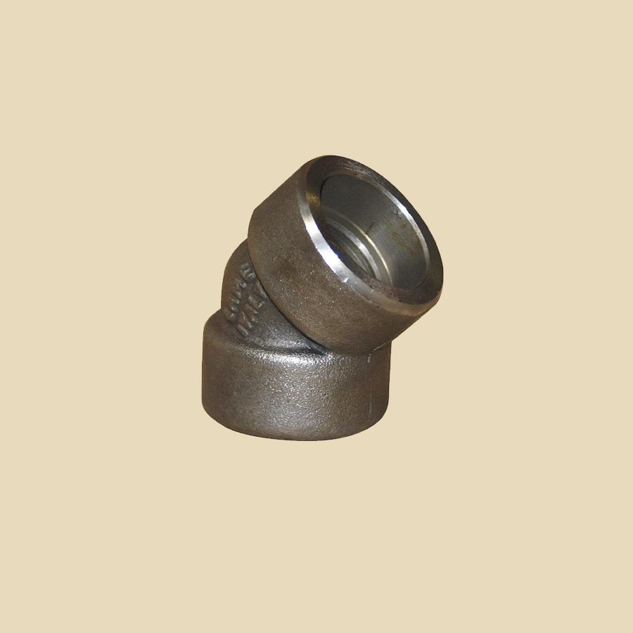 Coude 45° forgé acier 2 x 1 1/4