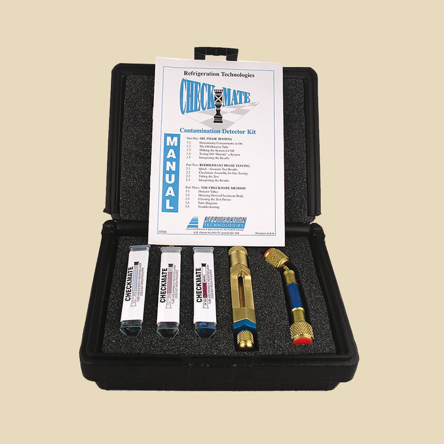 Kit test huile en malette comprenant : 3 tests conductivité, 3 tests acidité, 3 tests humidité