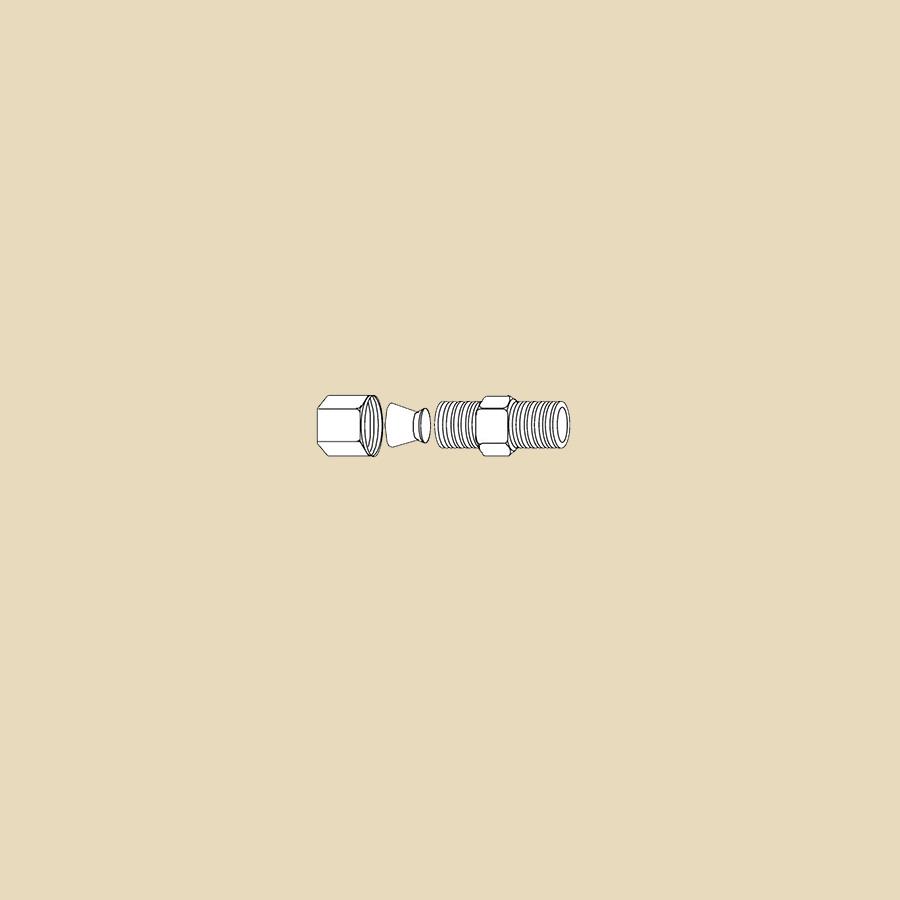"""Raccord olive pour tube inox, acier ou cuivre - 6mm x 1/4""""MPT"""