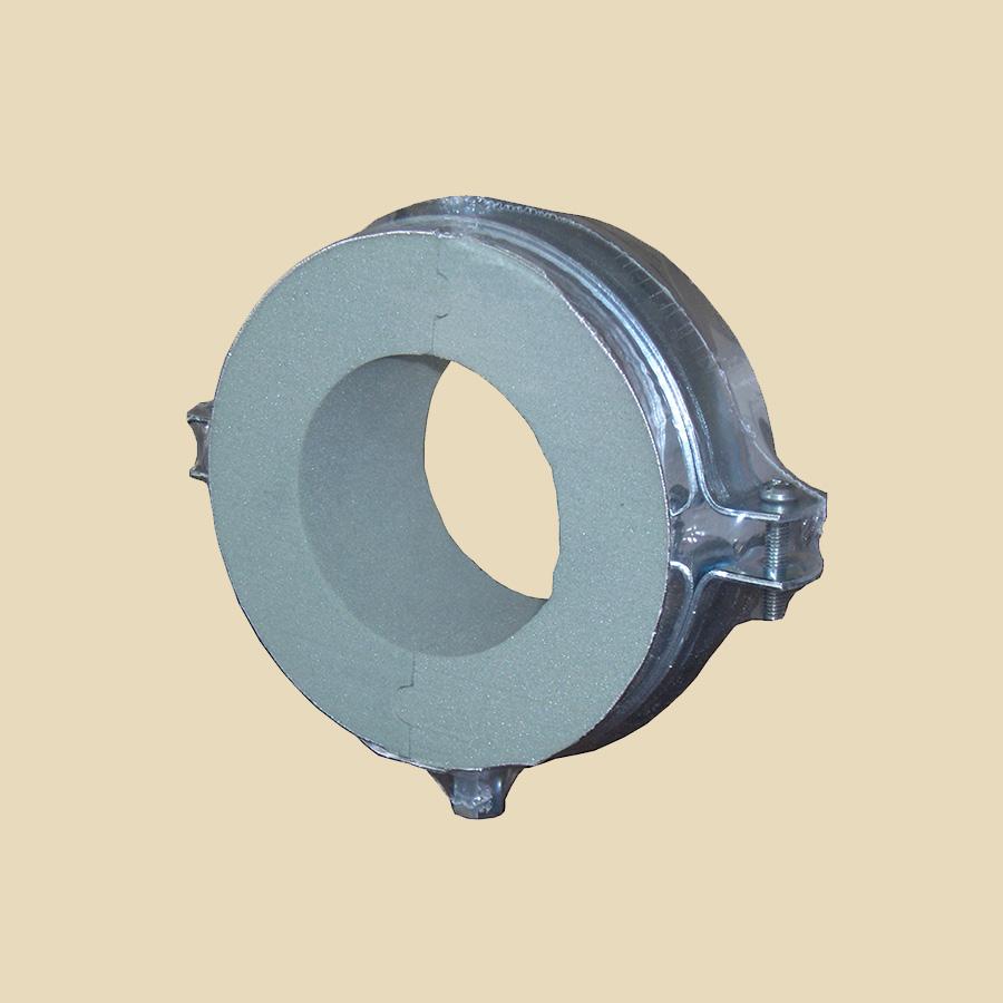 Collier Froid ep. 40mm - Ø 14mm avec parevapeur alu + collier M8/M10