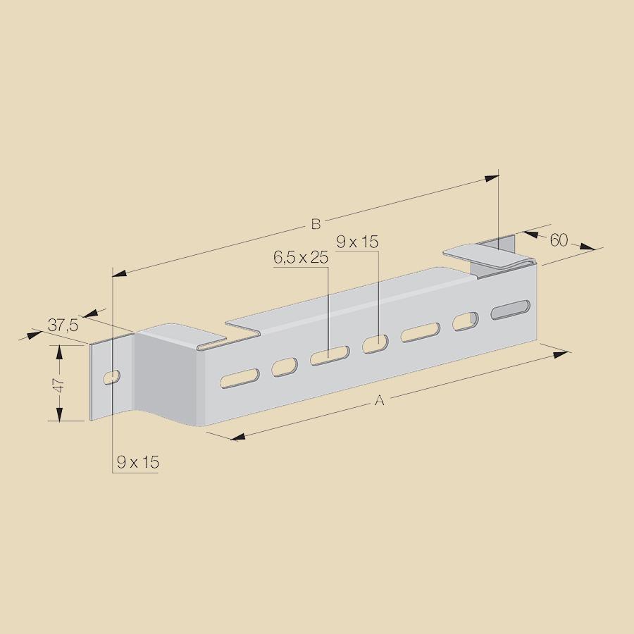 Support d'écartement EZ larg. 100mm