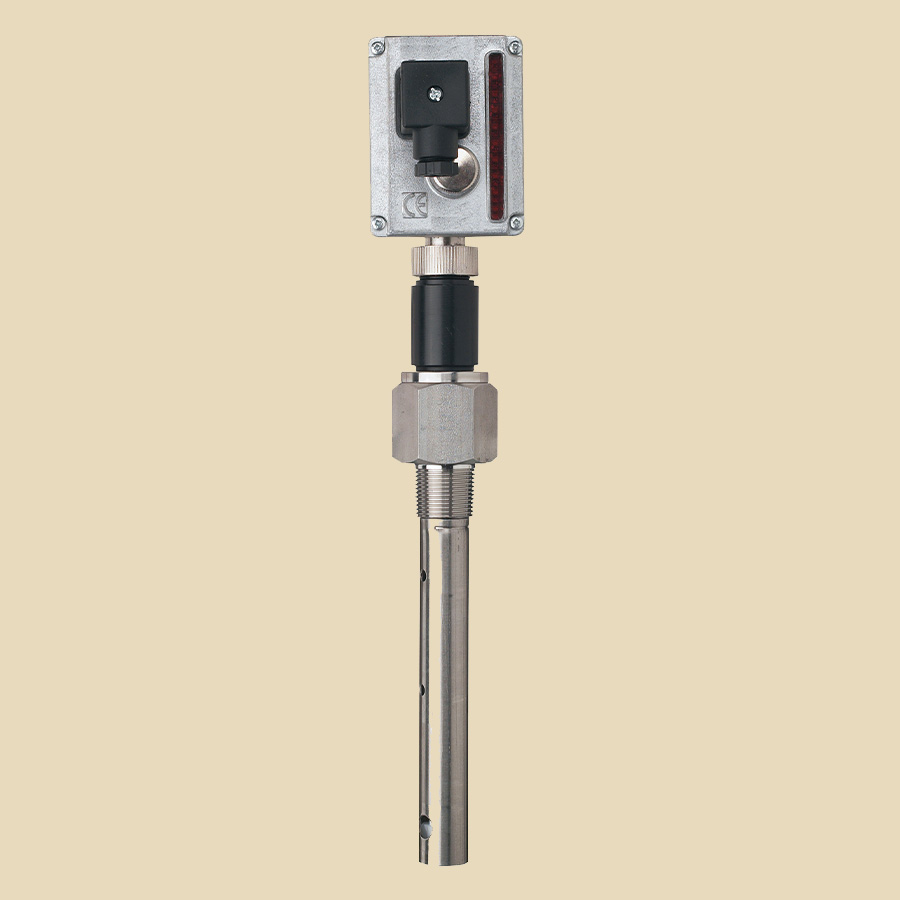 Canne de niveau capacitif avec LED pr NH3, lg : 2667mm, 24V AC/DC, 3/4