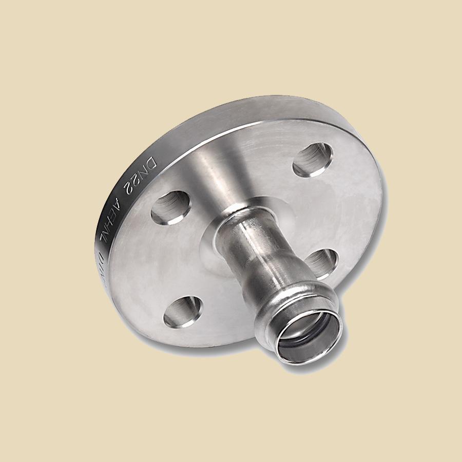 Manchon Mixte Galvanisé 108mm Fem. à Sertir x Bride PN10 DN100 compatible avec profils SA ou M