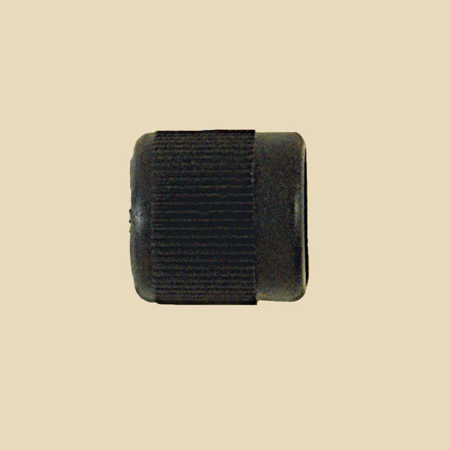 """Capuchon nylon noir 1/4""""F Flare vendu par multiple de 25"""