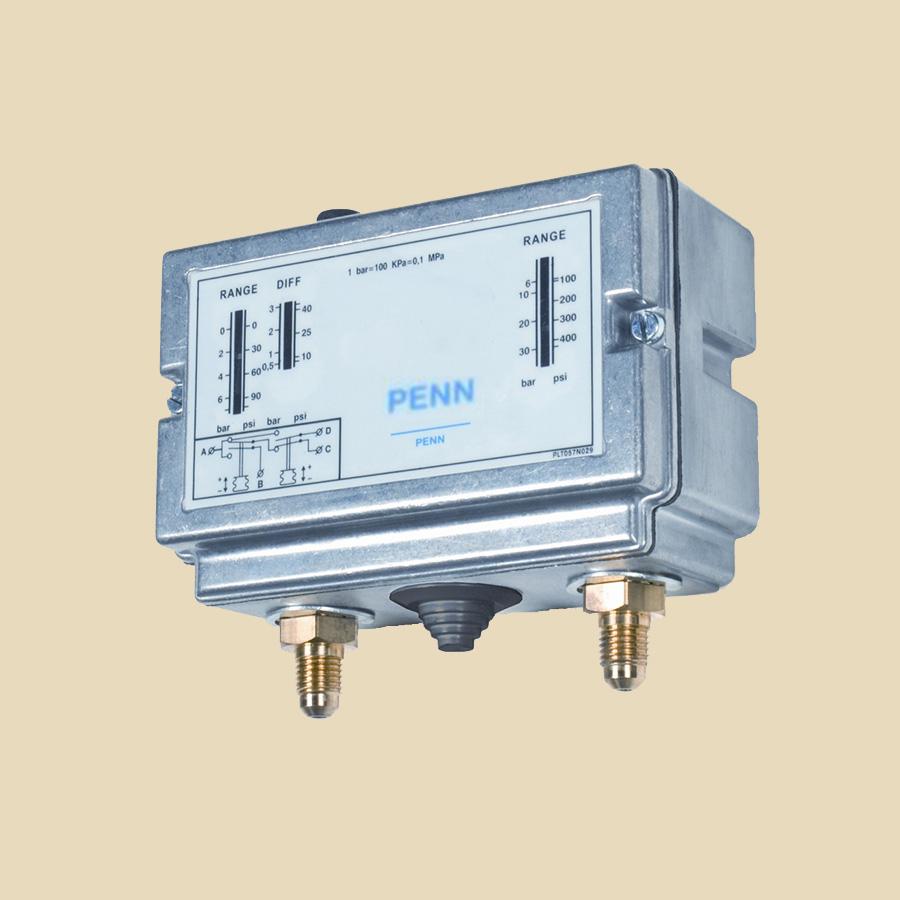Pressostat double régul rearm auto Pl. 1 : -0,5 à 7 bar diff. 0,5 à 0,3 bar Pl. 2 : 3 à 30 bar diff. 3 bar