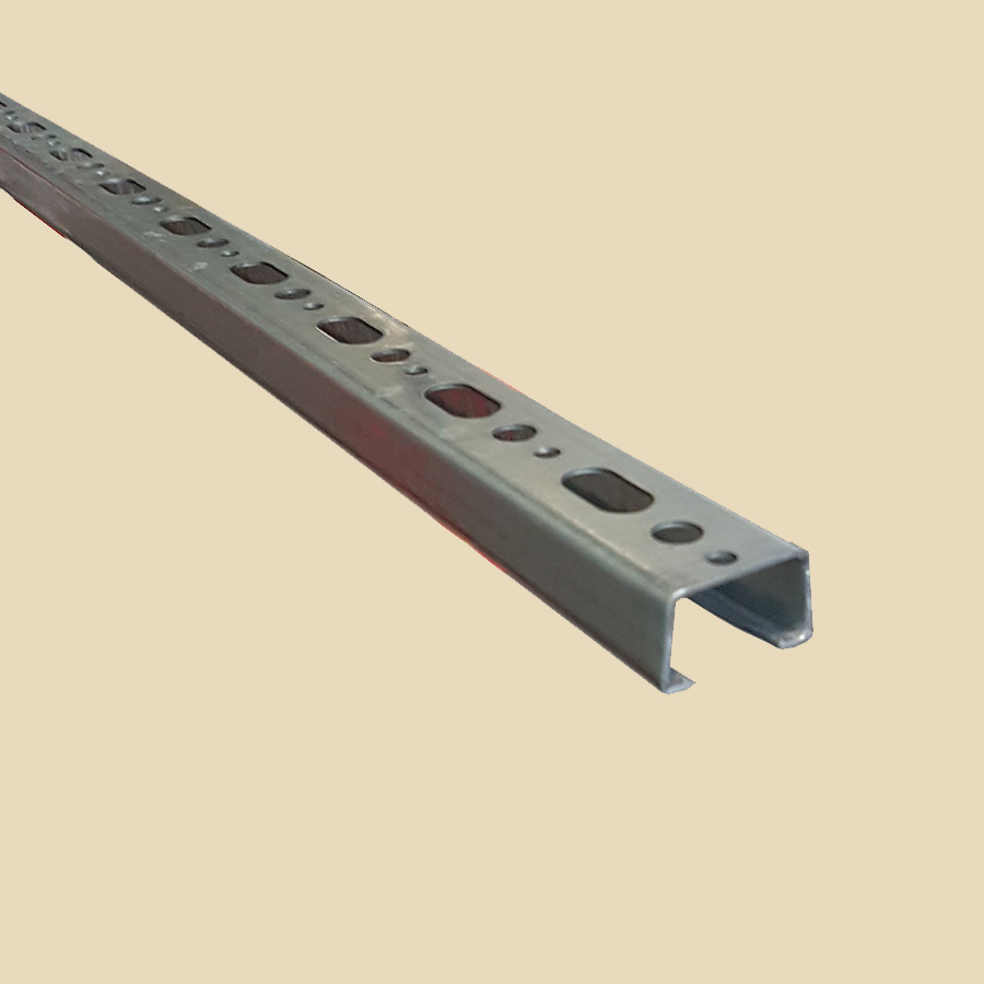 Rail perforé 27x18 EZ ep. 1,2mm long. 2m