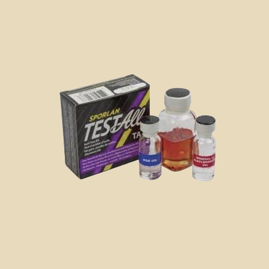 Test d'acidité pour huiles minérales Alkyle benzène et POE