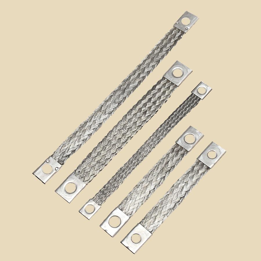 Tresse de masse - section 10 - diam 65mm long. 100mm - vendu par multiple de 50